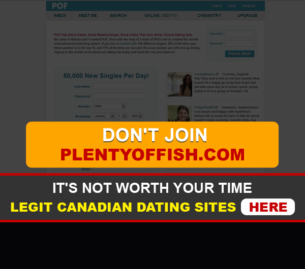 PlentyofFish front page